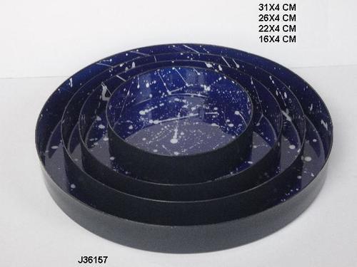 Enamel Metal Bowl Tray