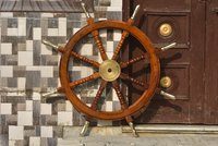 Nautical Wooden Ship Wheel 36 Inch With Brass Handle Wooden Ship Wheel For Boat And Ship Steering