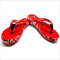 Ladies Cover Fashion Red Slipper