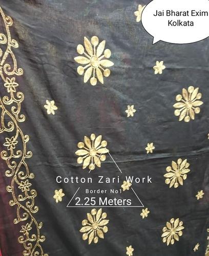 Cotton work dupatta