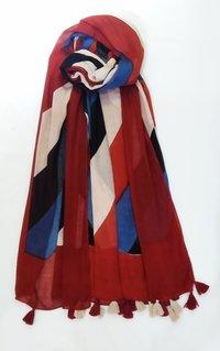 Rayon Printed Fringes Scarves