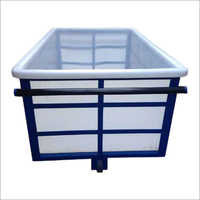 White HDPE Box Trolley
