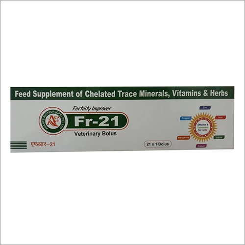 FR-21 Veterinary Bolus Feed Supplement of Chelated Trace Minerals - Vitamins And Herbs