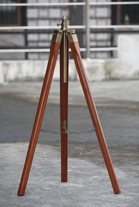 Vintage Floor Wooden Tripod for Shade Lamp Spot Light For Home Office Decor Gift