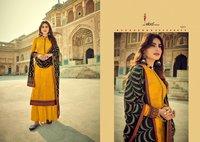 Cadbury Pure Viscose Opada Silk With Heavy Embroidery Work Dress Material