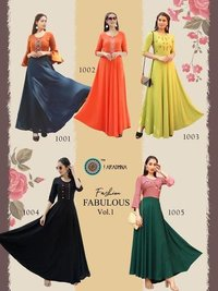 Fashion Fabulous Vol 1 Heavy Rayon With Embroidery & Manual Work Kurtis