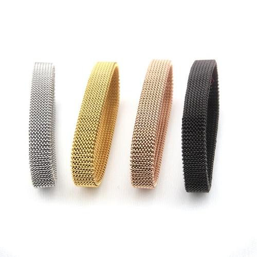 All Stainless Steel Elastic Mesh Bracelet