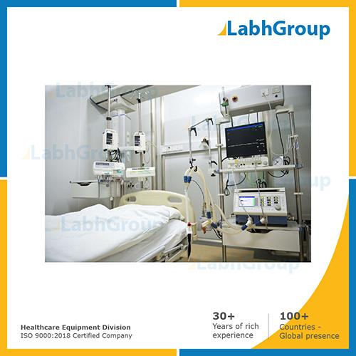 Hospital ICU room equipments