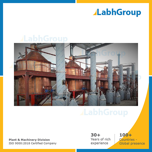 Concrete And Absolute Oil Derivation Plant
