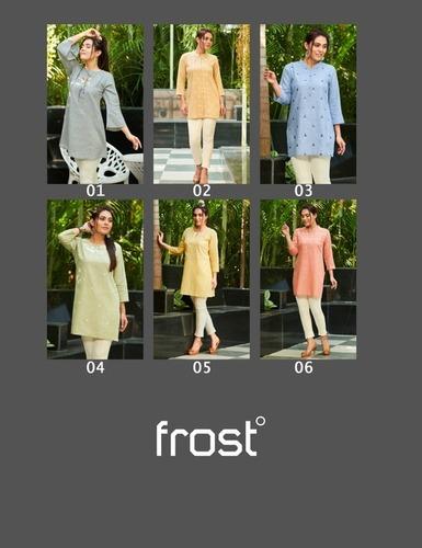 Frost Linen Cotton Embroidered Tunics Kurti
