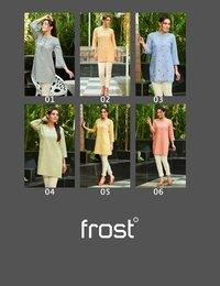 Frost Linen Cotton Embroidered Tunics Kurti