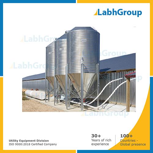 Stainless steel storage silos for milk powder