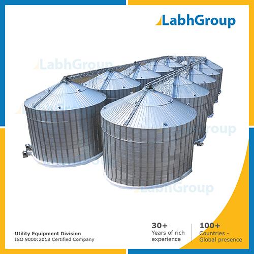 Bulk storage silos for castor seeds