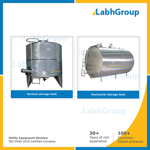 Stainless steel vertical & horizontal storage tank for RO water
