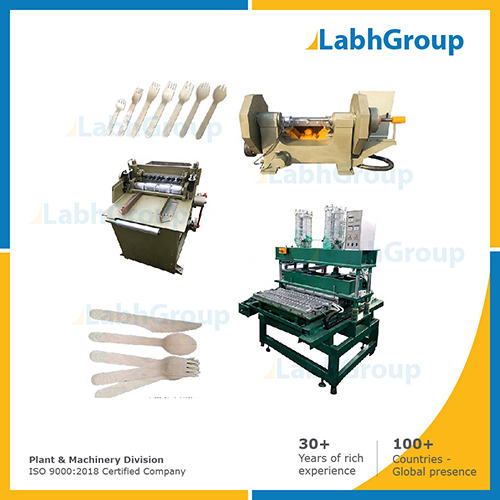 Wooden disposable bowls & plates making machine