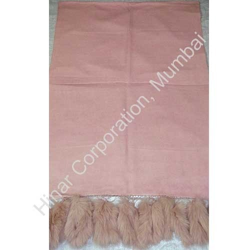 Fur Fringes Pashmina Shawl