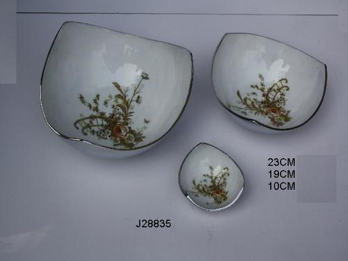 Metal Bowl With Floral Pattern and Food Safe Enamel