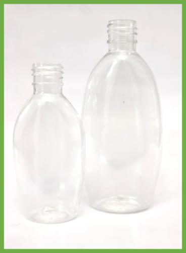 Cosmetic Oval Clear Pet Bottle