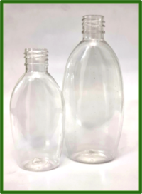 Cosmetic Oval Clear Pet Bottle