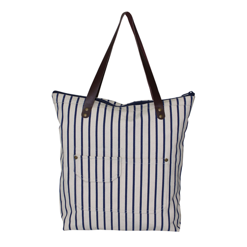 Natural Canvas Tote Bag With Inside Polyester Lining
