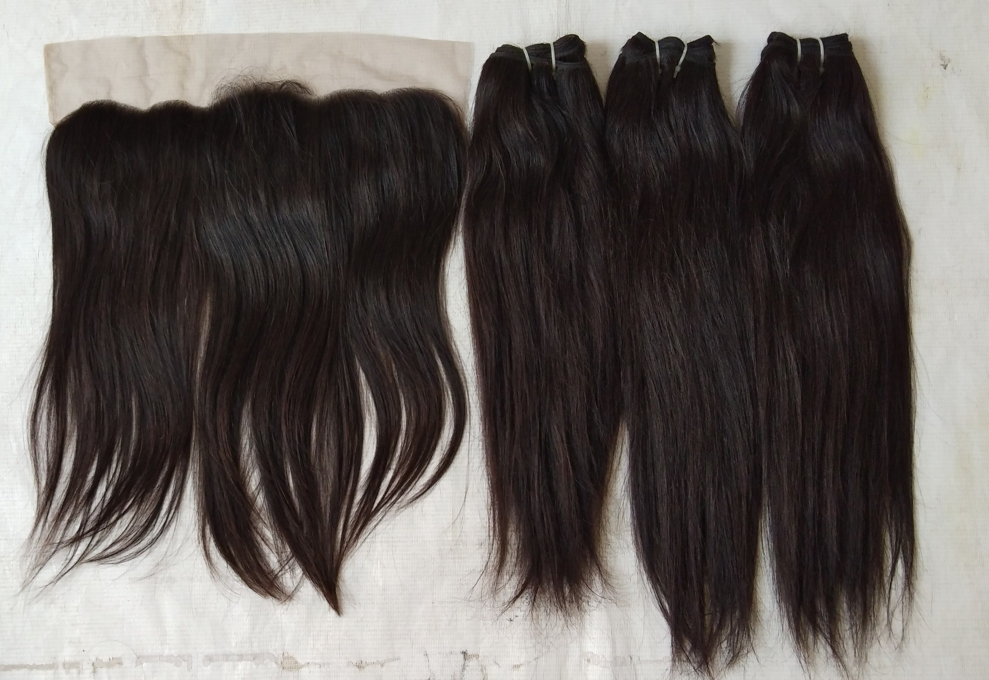 Raw Temple Straight Human Hair