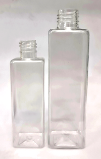 Cosmetic Square Clear Pet Bottle