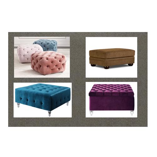 Fabric Ottoman Leather Stool Bench