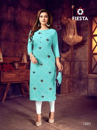 Indian Culture Rayon Slub New Style Kurtis