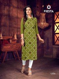Indian Culture Rayon Slub New Style Kurtis