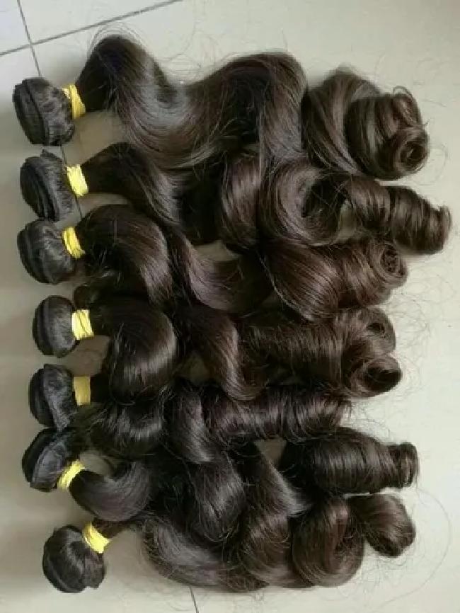 Bulk Wavy Indian Virgin Human Hair Extensions