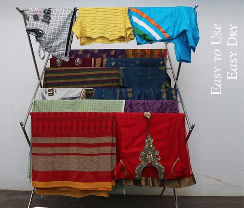 SS Fancy Cloth Drying Foldable Stands