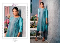 Pankhi Designer 14kg Rayon Weaving Kurtis