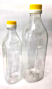 Edible Oil Clear PET Bottle - Premium Square