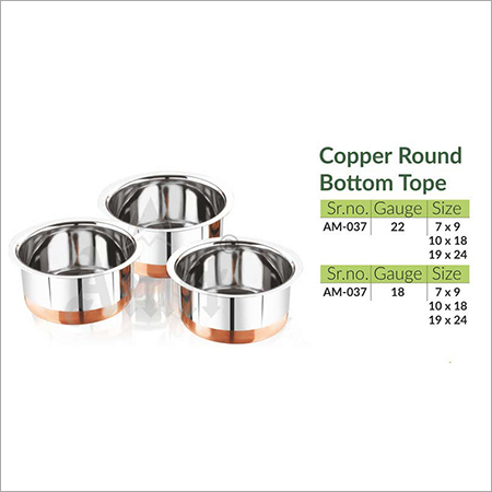 Copper Round Bottom Tope