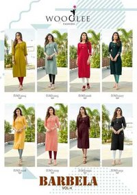 Barbella Vol 4 Heavy Rayon Embroidery & Handwork Kurtis