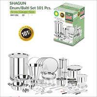 Shagun Drum Balti Set 101 Pcs
