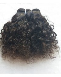 Short Curly Virgin Indian Human Hair Extensions