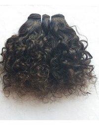 Short Curly Virgin Indian Human Hair Extensions