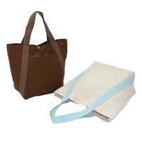 12 Oz Dyed Canvas Tote Bag With Front Pocket & Top Press Button Closure