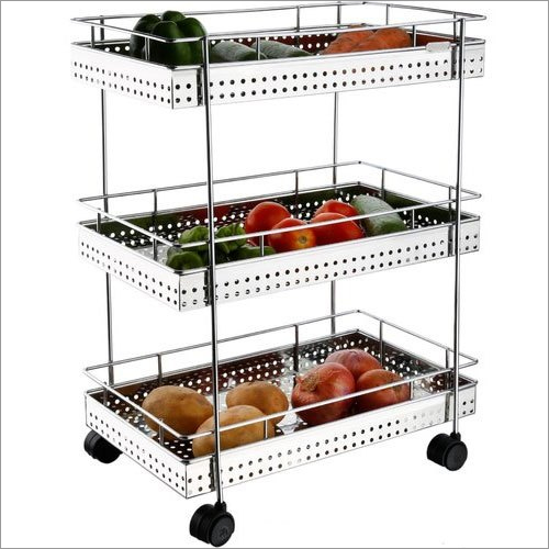 Stainless Steel Fruits Trolley