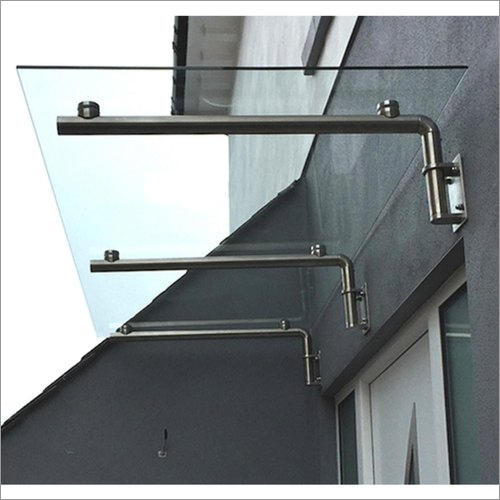 Stainless Steel Rectangular Glass Canopy