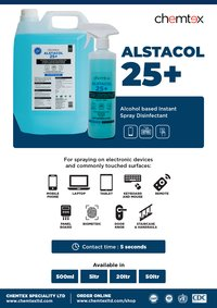 ALSTACOL 25+: Alcohol based Surface Disinfectant