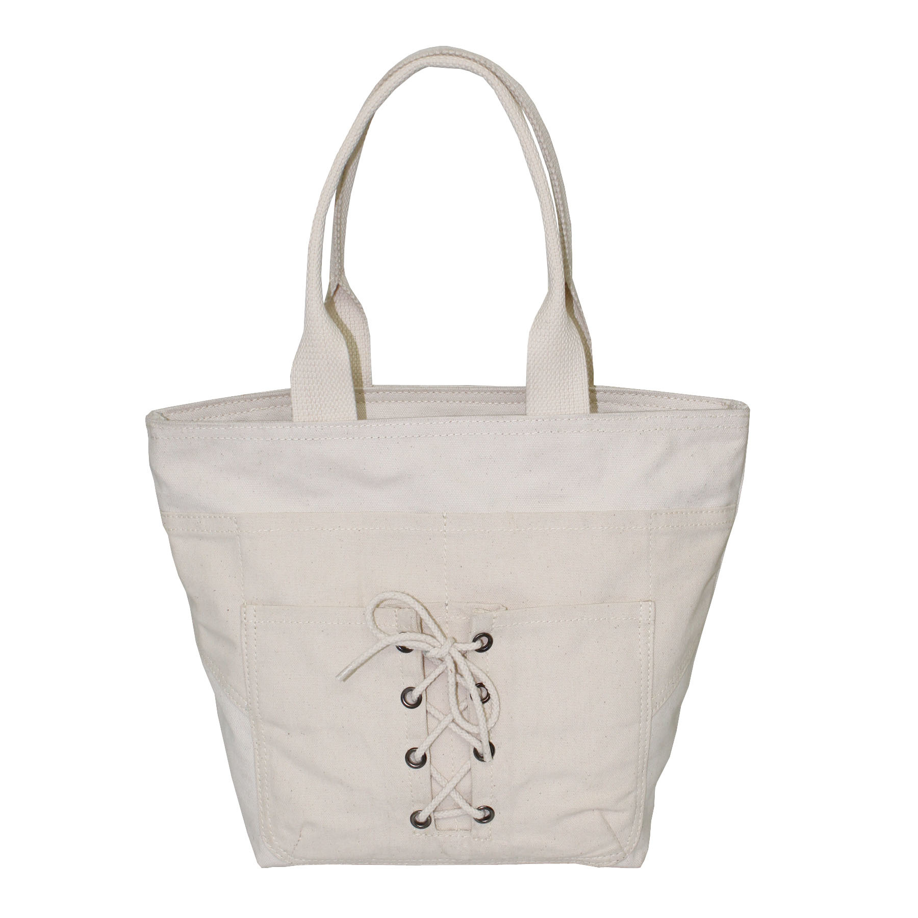 20 Oz Natural Canvas Tote Bag With Open Hanging Pocket