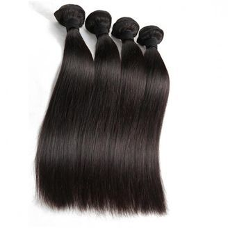Machine Weft Straight Virgin Indian Human Hair Extensions
