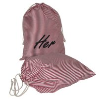 Striped Print Design Poly Viscose Blen Fabric Drawstring Bag