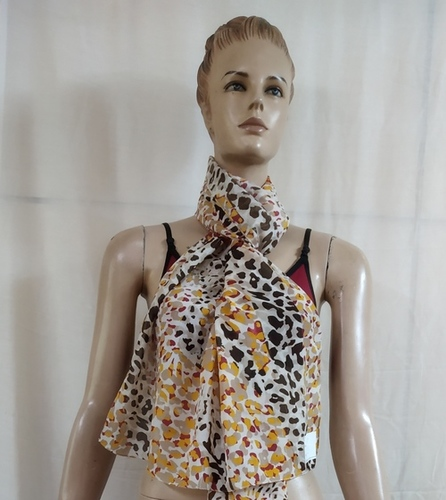 Voile Print Animal With Lurex Scarves
