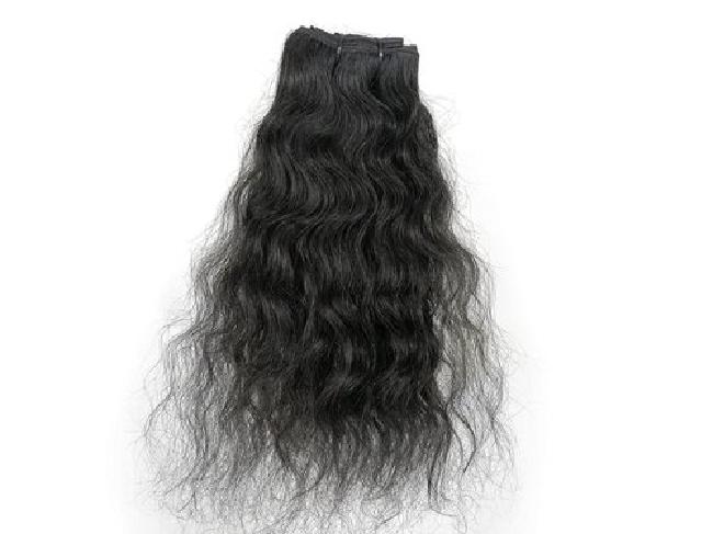 Pure Black Virgin Human Hair Extensions