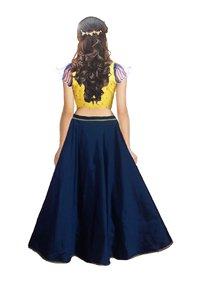Girls Lehenga Choli Ethnic Wear Embroidered Lehenga, Choli and Dupatta Set  (Blue,18)