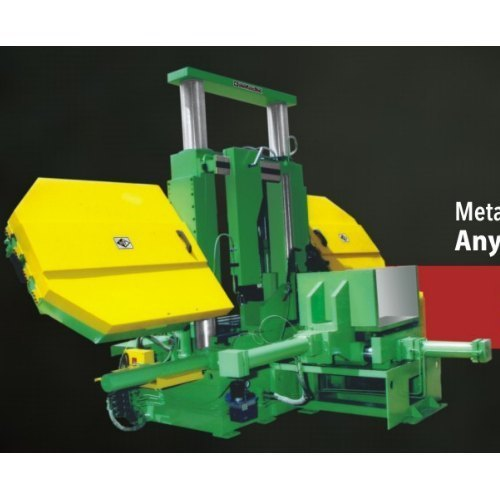 LMG-800 M Double Column Semi Automatic Band Saw Machine (With Pusher)