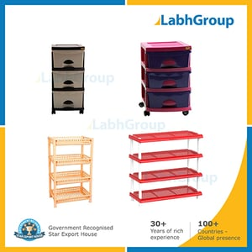 Plastic drawers & racks